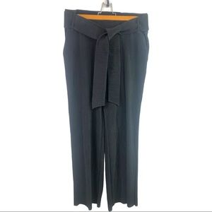 Alfani - Ribbed Wide Leg Belted Trousers